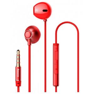 Проводные наушники Baseus H06 Encok красные