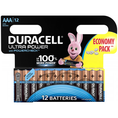 Батарейки AAA Duracell LR03 BL12 Ultra Power