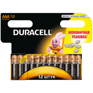 Батарейки AAA Duracell LR03 BL12 BASIC