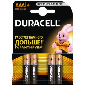 Батарейки AAA Duracell LR03 BL4 BASIC