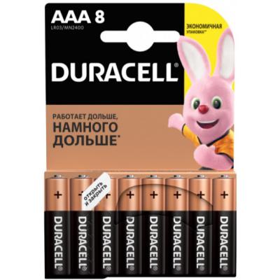 Батарейки AAA Duracell LR03 BL8 Basic
