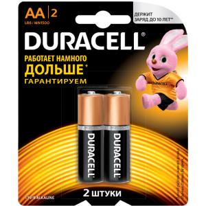 Батарейки AA Duracell LR6 BL2 Basic
