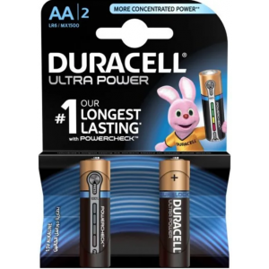Батарейки AA Duracell LR6 BL2 Ultra Power