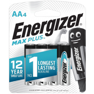 Батарейки AA Energizer LR6 MAX PLUS BL4