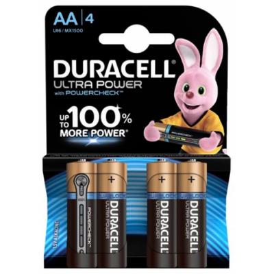 Батарейки AA Duracell LR6 BL4 Ultra Power