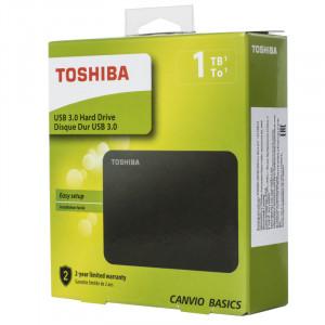 """Внешний диск Toshiba 1TB Canvio Basic черный, 2.5"""", USB 3.0"""