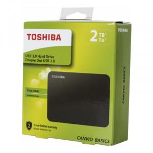 """Внешний диск Toshiba 2TB Canvio Basic черный, 2.5"""", USB 3.0"""