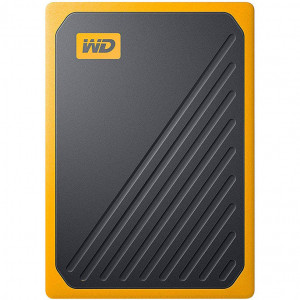 Внешний SSD 500 ГБ WD My Passport Go, жёлтый
