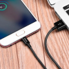 Кабель USB - микро USB HOCO X23 Skilled, 1 метр черный