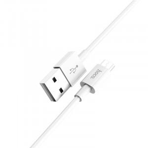 Кабель USB - микро USB HOCO X23 Skilled, 1 метр белый