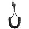 Кабель Baseus Fish eye Spring Data Cable USB - Lightning (CALSR) 1 метр, черный