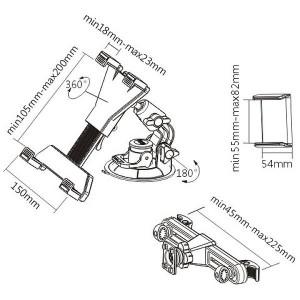 Автомобильный держатель для планшета iTECHmount ShowPad24