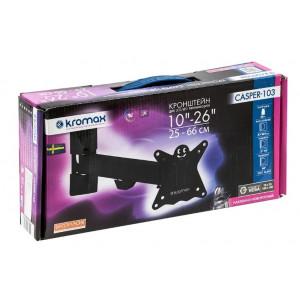 Кронштейн для телевизора Kromax Casper-103 black наклонно-поворотный
