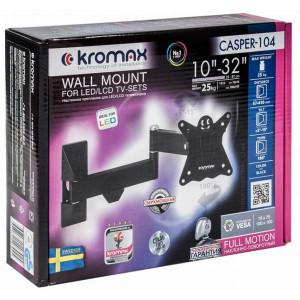 Кронштейн для телевизора Kromax Casper-104 black наклонно-поворотный