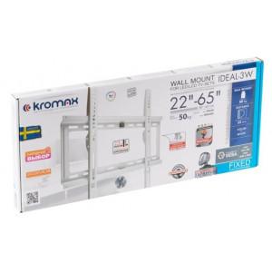 Кронштейн для телевизора Kromax Ideal-3 white наклонный