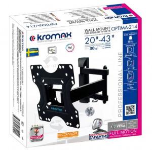 Кронштейн для телевизора Kromax Optima-214 black наклонно-поворотный
