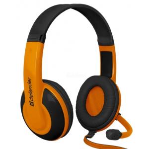 Компьютерная гарнитура Defender Warhead G-120 черный/оранжевый