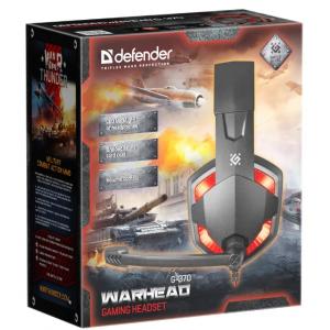 Компьютерная гарнитура Defender Warhead G-370 черный/красный