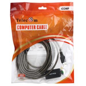 Удлинитель USB 2.0 AM-AF Telecom TUS7049-5M, активный, 5 метров