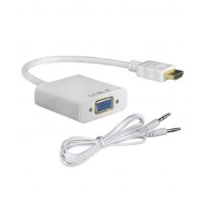 Конвертер переходник HDMI - VGA (+аудио)