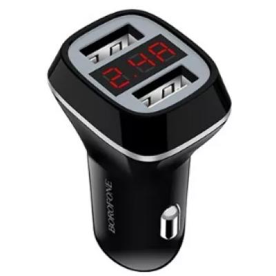 Блок питания автомобильный 2 USB Borofone JoyRoad BZ3 черный