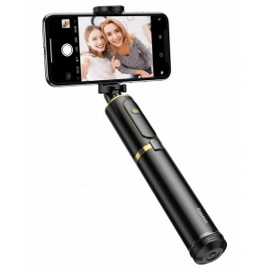 Монопод-штатив Baseus Fully Folding Selfie Stick с пультом Bluetooth золото