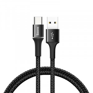 Кабель Baseus Halo Data Cable USB - Type C (CATGH) 50 см, черный