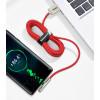Кабель Baseus Iridescent Lamp USB - Type C (CAT7C) 1 метр, красный