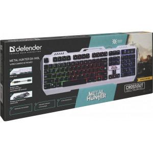 Игровая клавиатура Defender Metal Hunter GK-140L, проводная черная