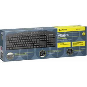 Клавиатура Defender Atlas HB-450 RU, проводная черная