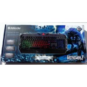 Игровая клавиатура Defender Werewolf GK-120DL, проводная черная