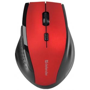 Беспроводная мышь DEFENDER Accura MM-365, красная