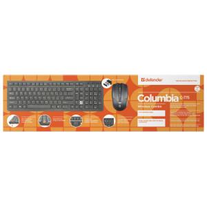 Беспроводной набор Defender Columbia C-775, мышь + клавиатура