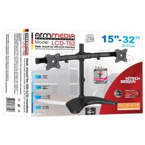 Настольный кронштейн для 2-х мониторов Arm Media LCD-T52 black