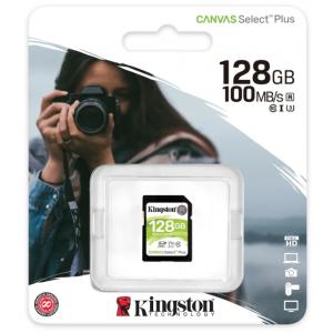 Карта памяти SDXC128GB Kingston Canvas Select Plus100 Мб/сек