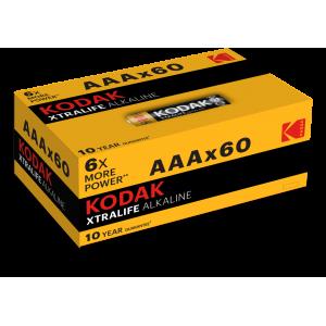 Батарейки AAA Kodak LR03 XTRALIFE BL60 (60 шт. в коробке)