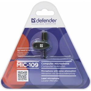 Микрофон DEFENDER MIC-109 на прищепке