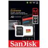 Карта памяти SanDisk Extreme microSDXC A2 160MB/s 64GB + SD адаптер