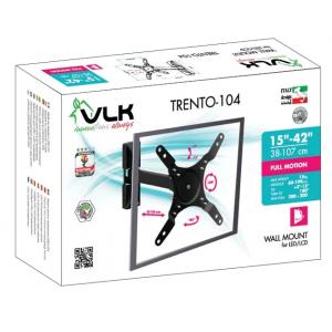 Кронштейн для телевизора VLK TRENTO-104 black наклонно-поворотный