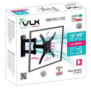 Кронштейн для телевизора VLK TRENTO-105 black наклонно-поворотный