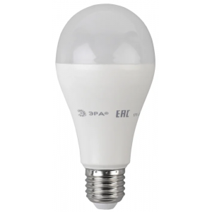 Лампа светодиодная ЭРА ECO A65 18Вт 220V 4000K E27 (дневной свет)